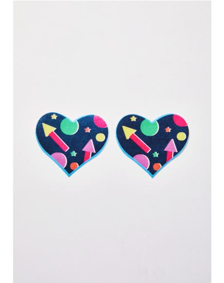 x Club Exx Shapes Heart Pasties