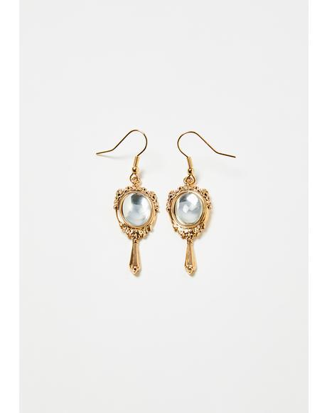 Fairest Diva Mirror Drop Earrings