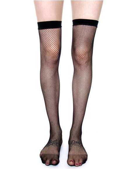 Fishnet Thigh Highs Tights