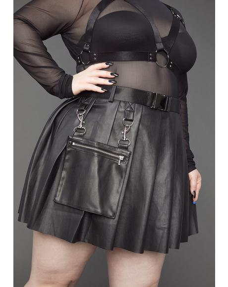 Always Ready For Action Pleated Skirt
