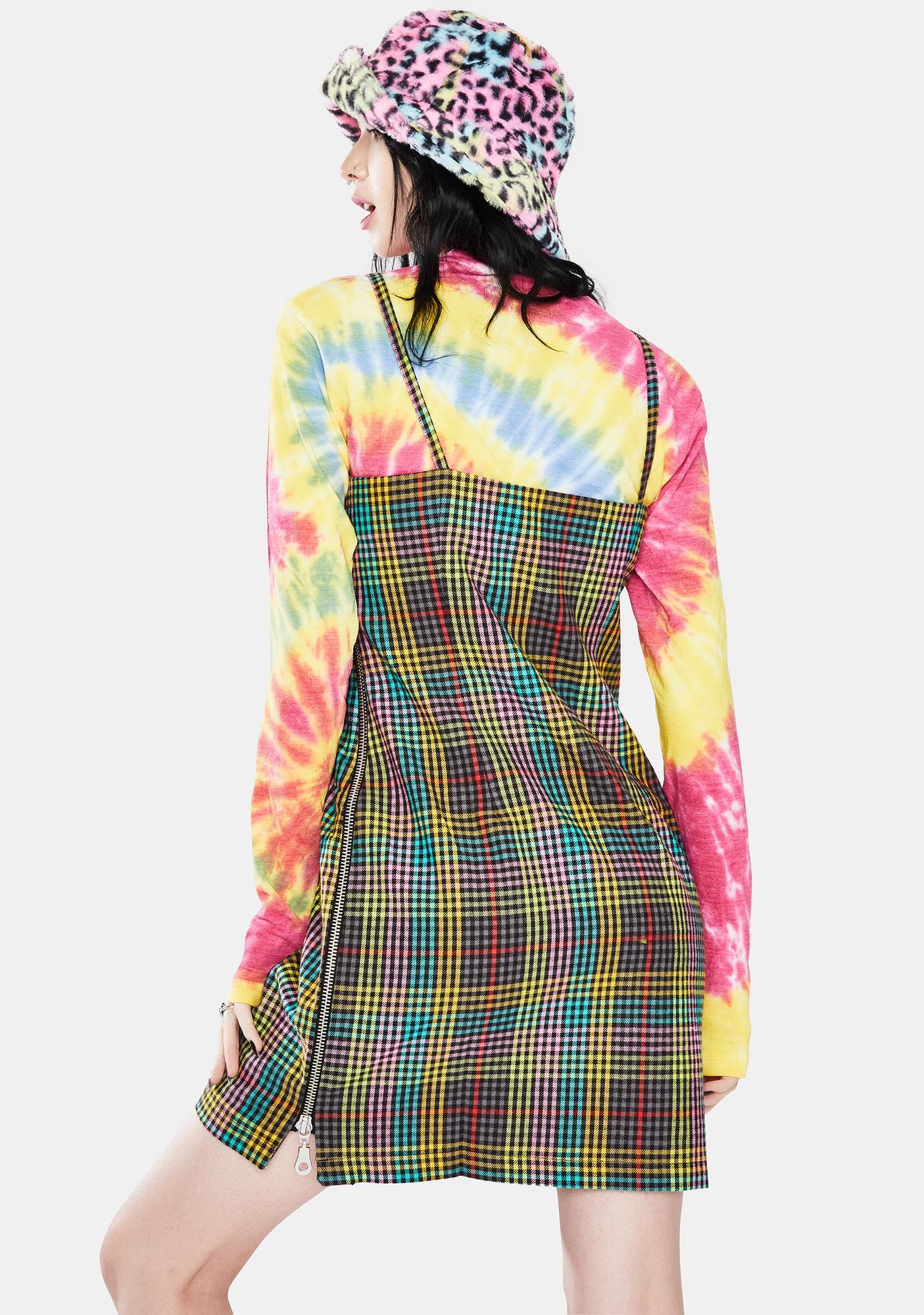 The Ragged Priest Storm Check Cami Mini Dress