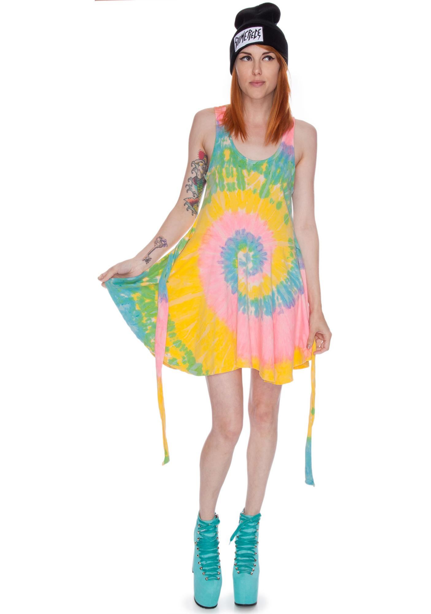 UNIF Deadstock Tie Dye Dress