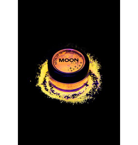 Moon Creations Neon Yellow UV Glitter Shaker