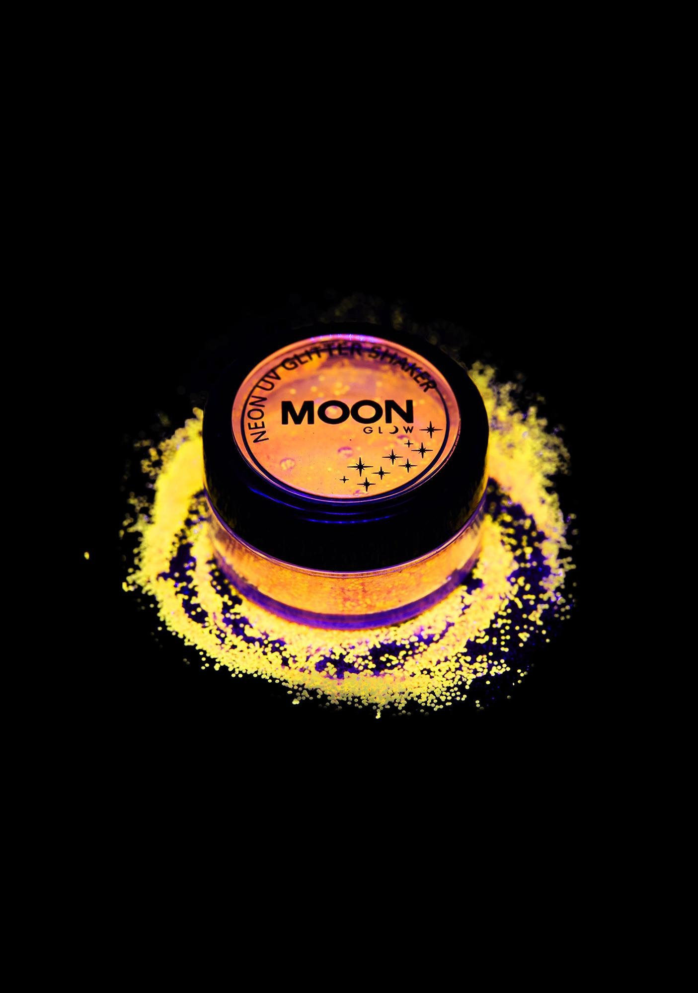Moon Creations Neon Yellow UV Glitter Shaker
