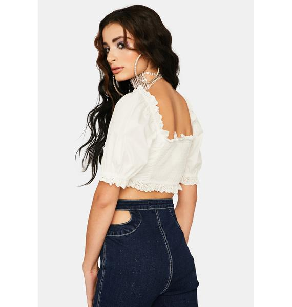 Moving Too Fast Crop Blouse
