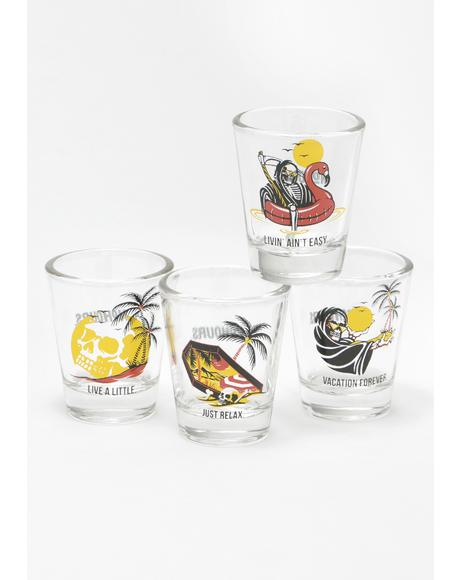 Paradise Shot Glass Set