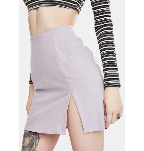 Motel Light Purple Sheny Mini Skirt