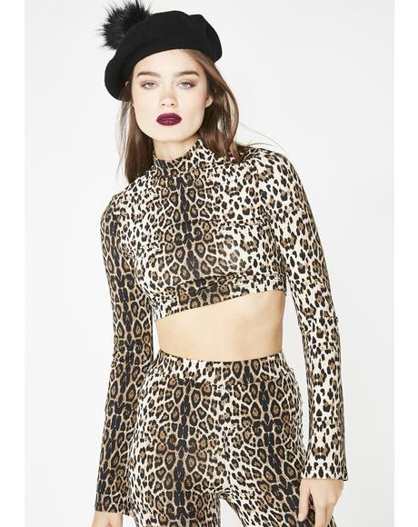 Catitude Leopard Crop Top