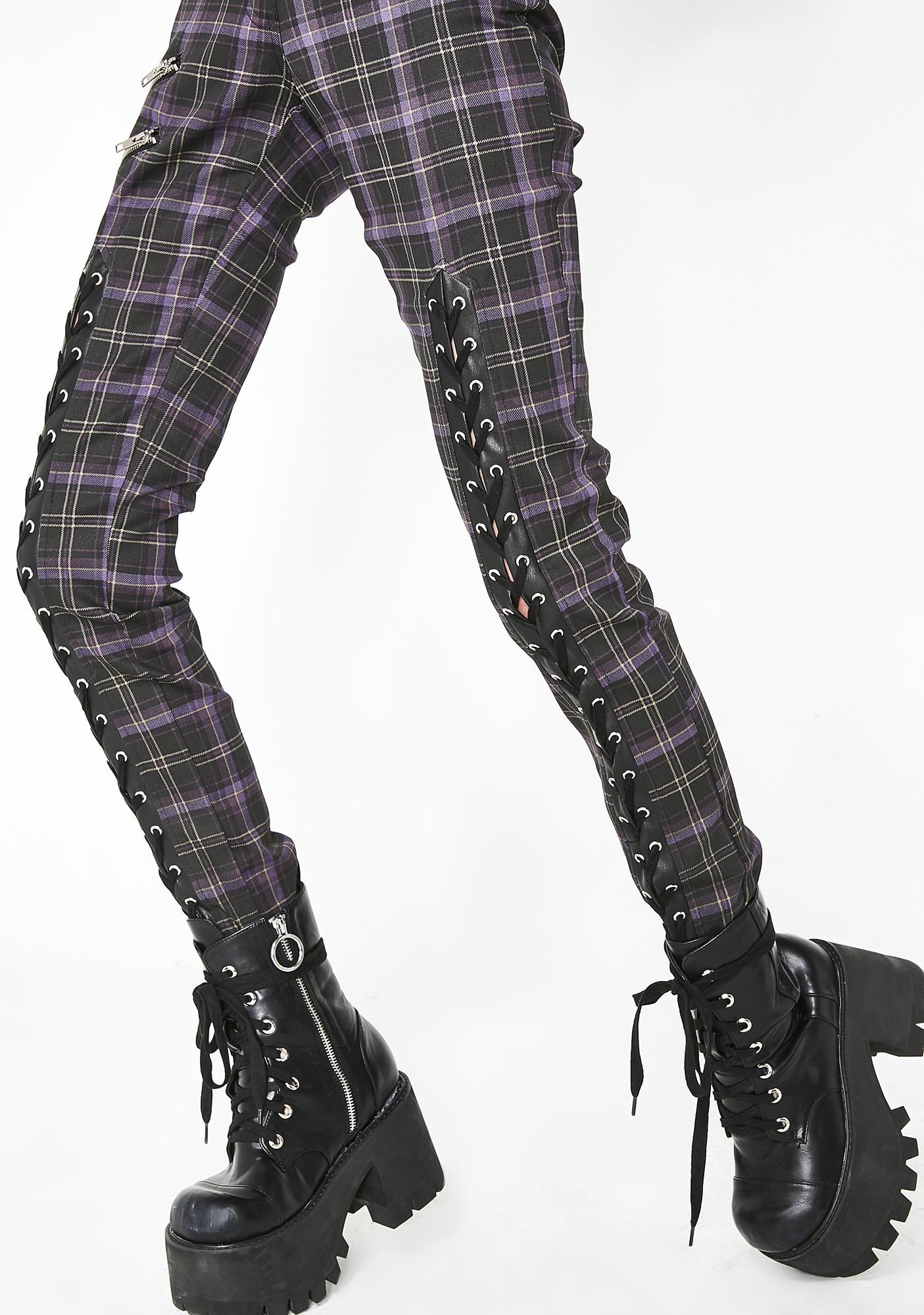 Killstar Tartan Mazzy Lace-Up Jeans