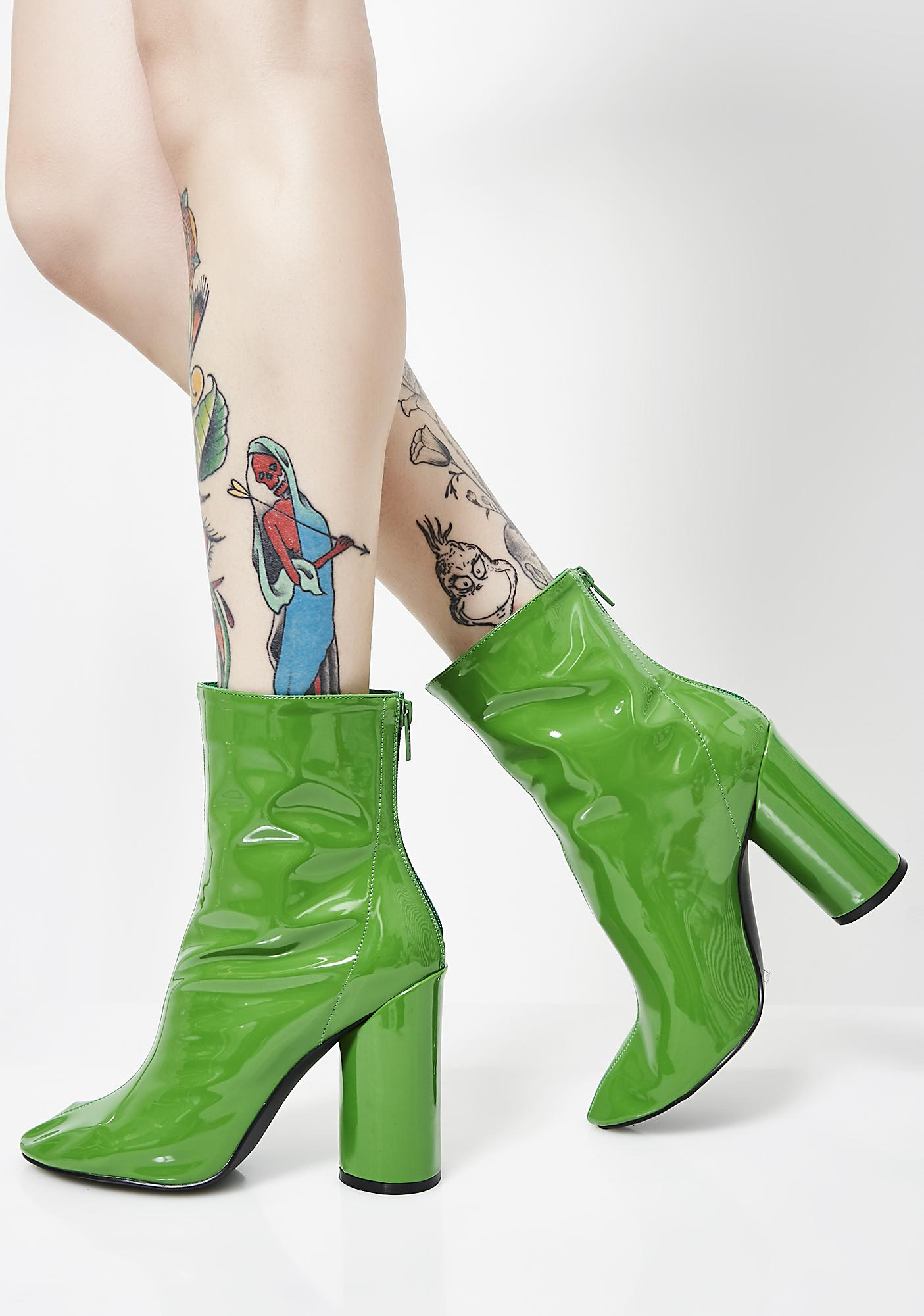 Public Desire IMPACT - High heeled ankle boots - dark green 8HHNHZ