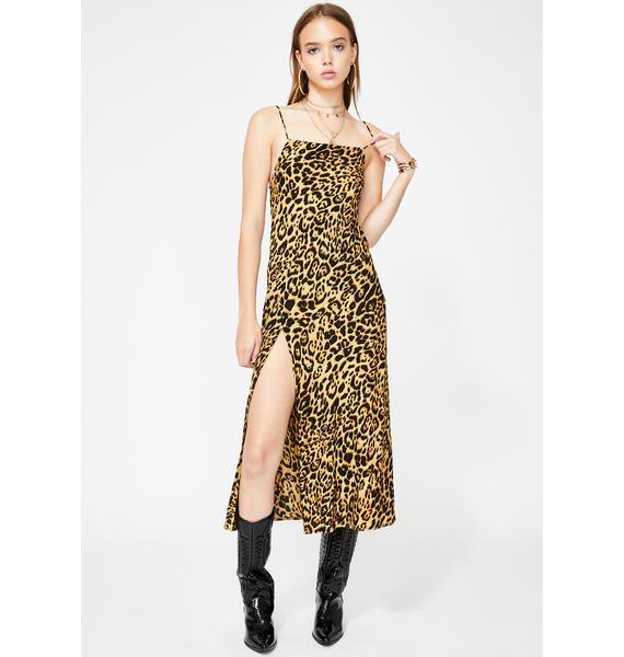 Motel Leopard Quinty Maxi Dress