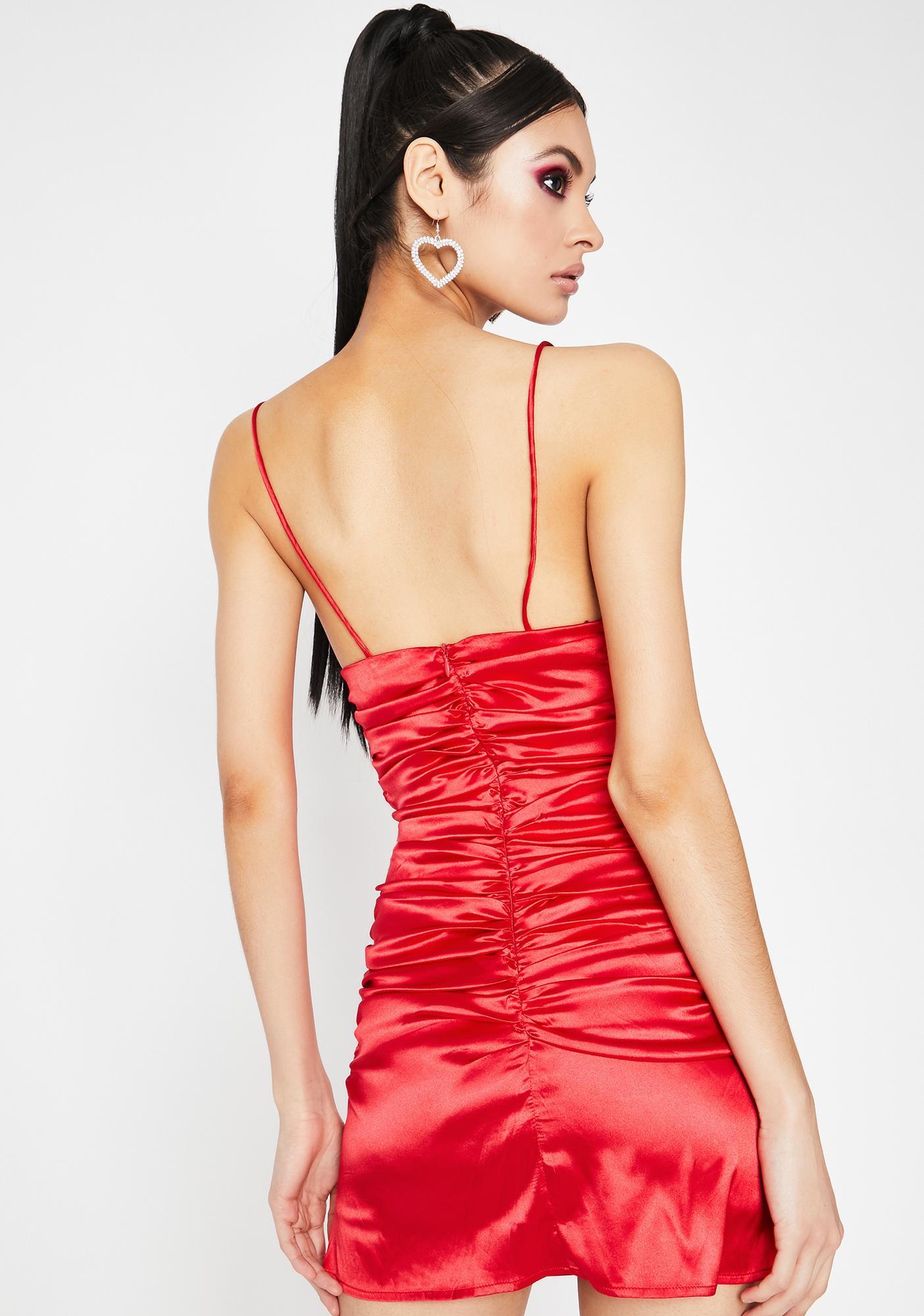 Lover's Embrace Satin Dress