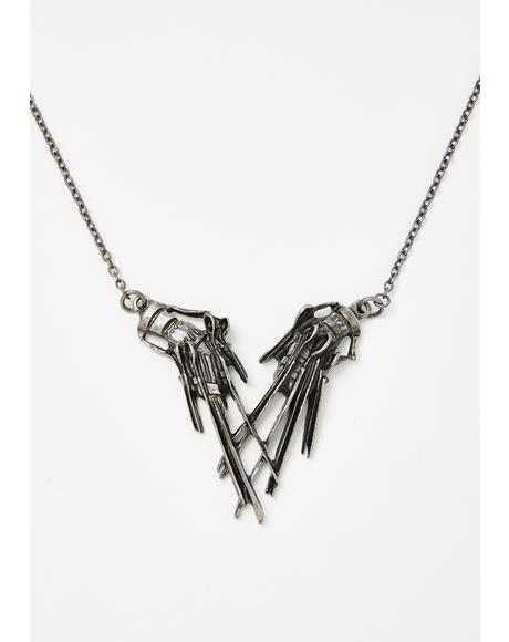 Edward Scissorhands Pendant Necklace