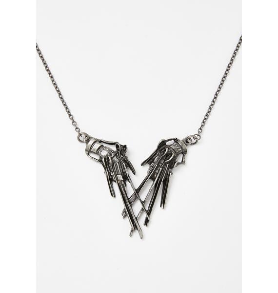 Rock Rebel Edward Scissorhands Pendant Necklace