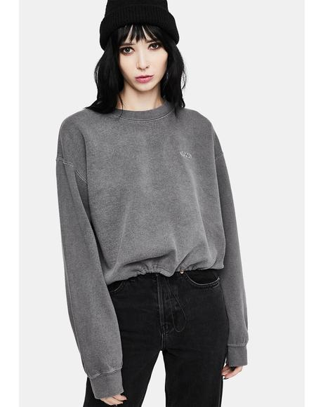 Bubble Hem Sweat Top