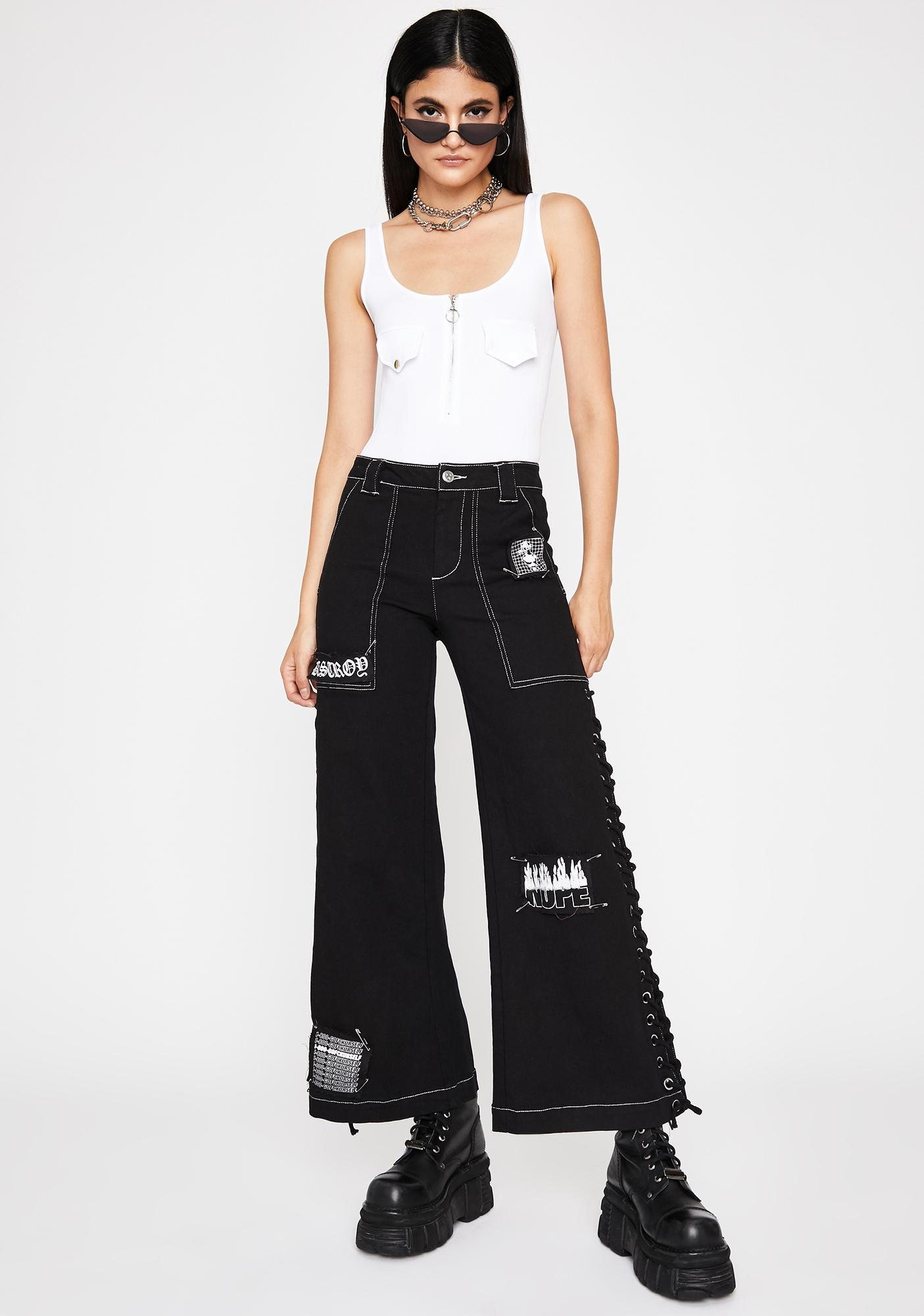 Chill Street Ruler Zip-Up Bodysuit