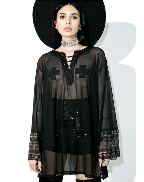 Obsidian Sheer Tunic