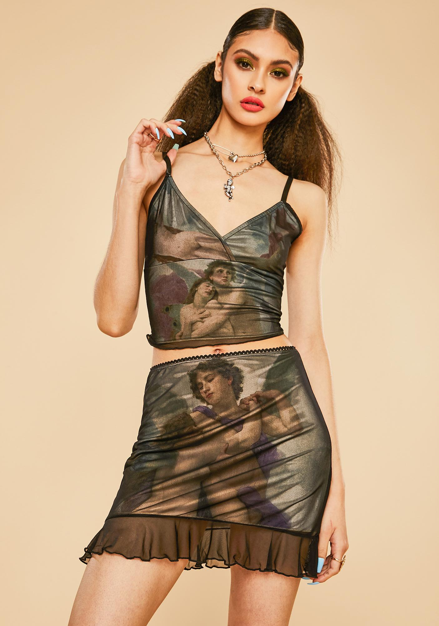 Current Mood Divine Creation Mesh Skirt Set