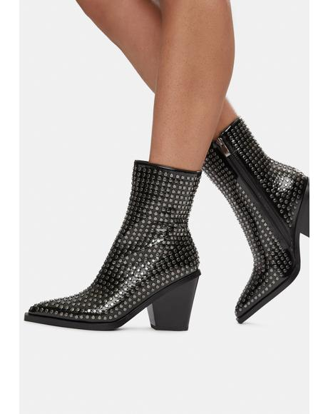 Big Commitment Studded Ankle Boots