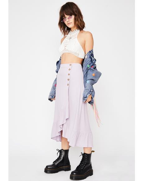 Grape Give Me One Reason Midi Skirt