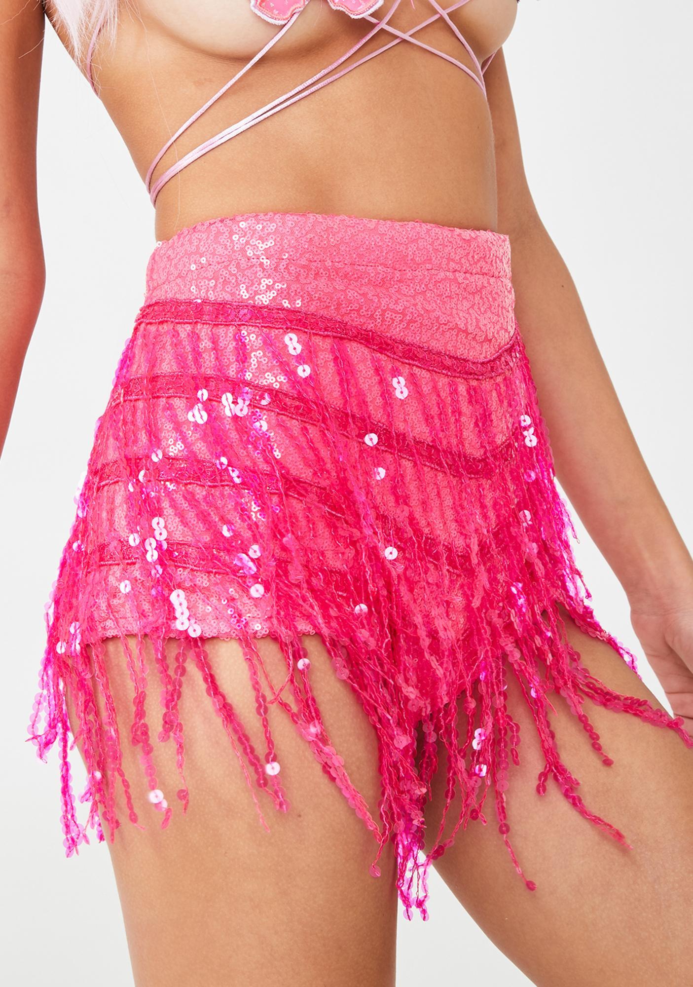 Elsie & Fred Neon Dream La Bamba Sequin Hot Pants
