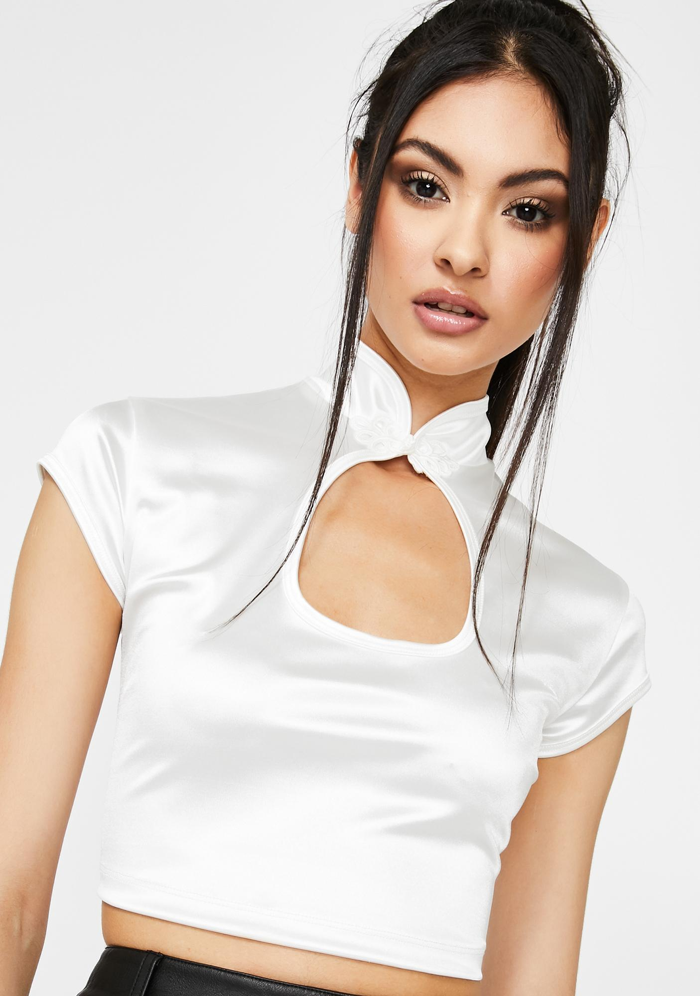 Motel White Lina Top