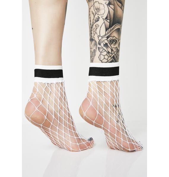 No Bad Daze Fishnet Socks
