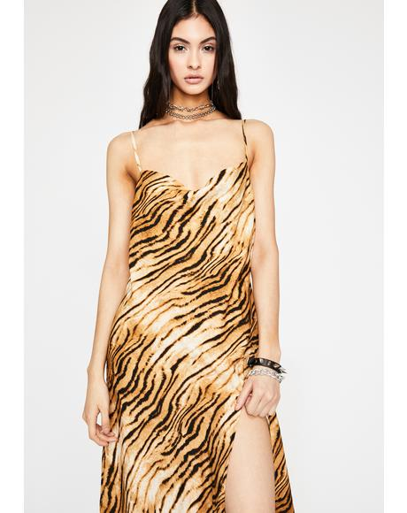 Get 'Em Tiger Maxi Dress