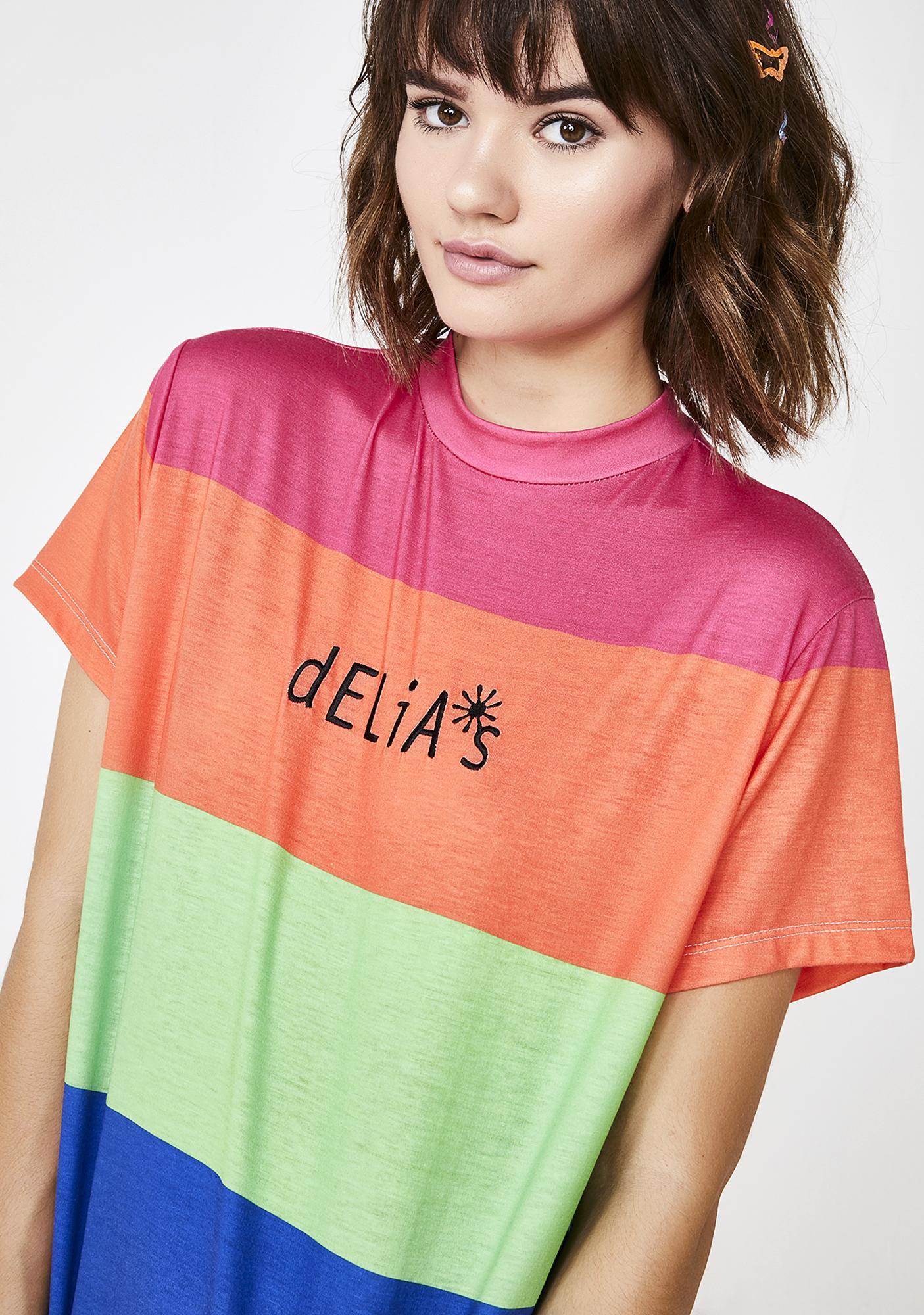 dELiA*s by Dolls Kill Funky Vibrations Oversize Tee