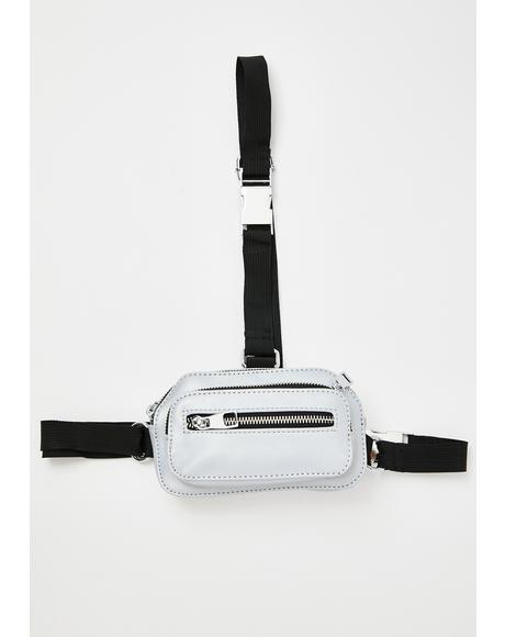 Fame Game Reflective Fanny Pack