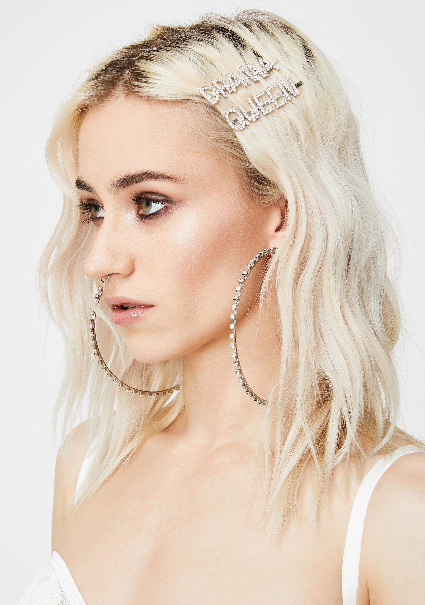 Lives For Drama Rhinestone Hair Pins
