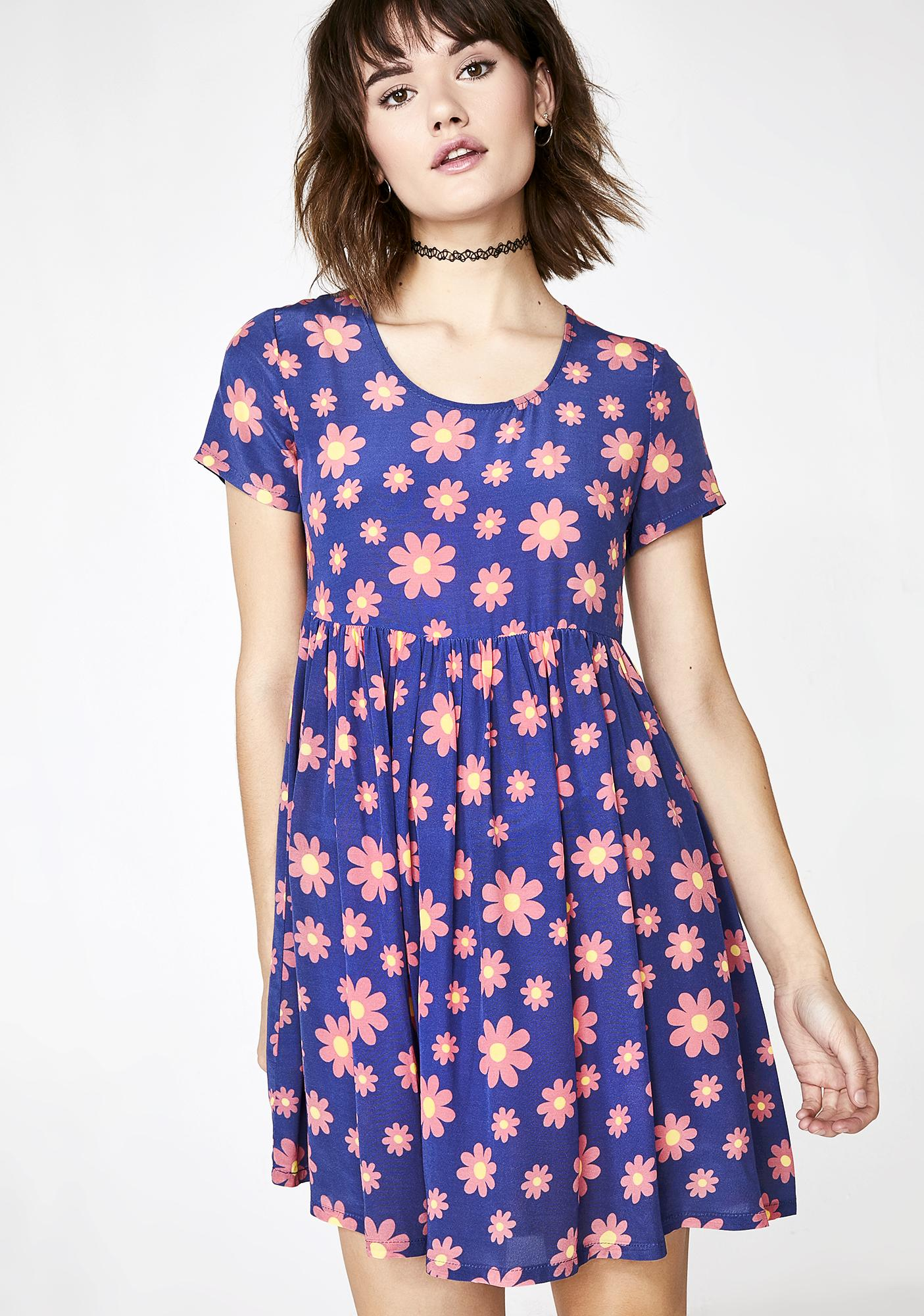 1d2ea991c2 dELiA s by Dolls Kill Forget Me Not Babydoll Dress