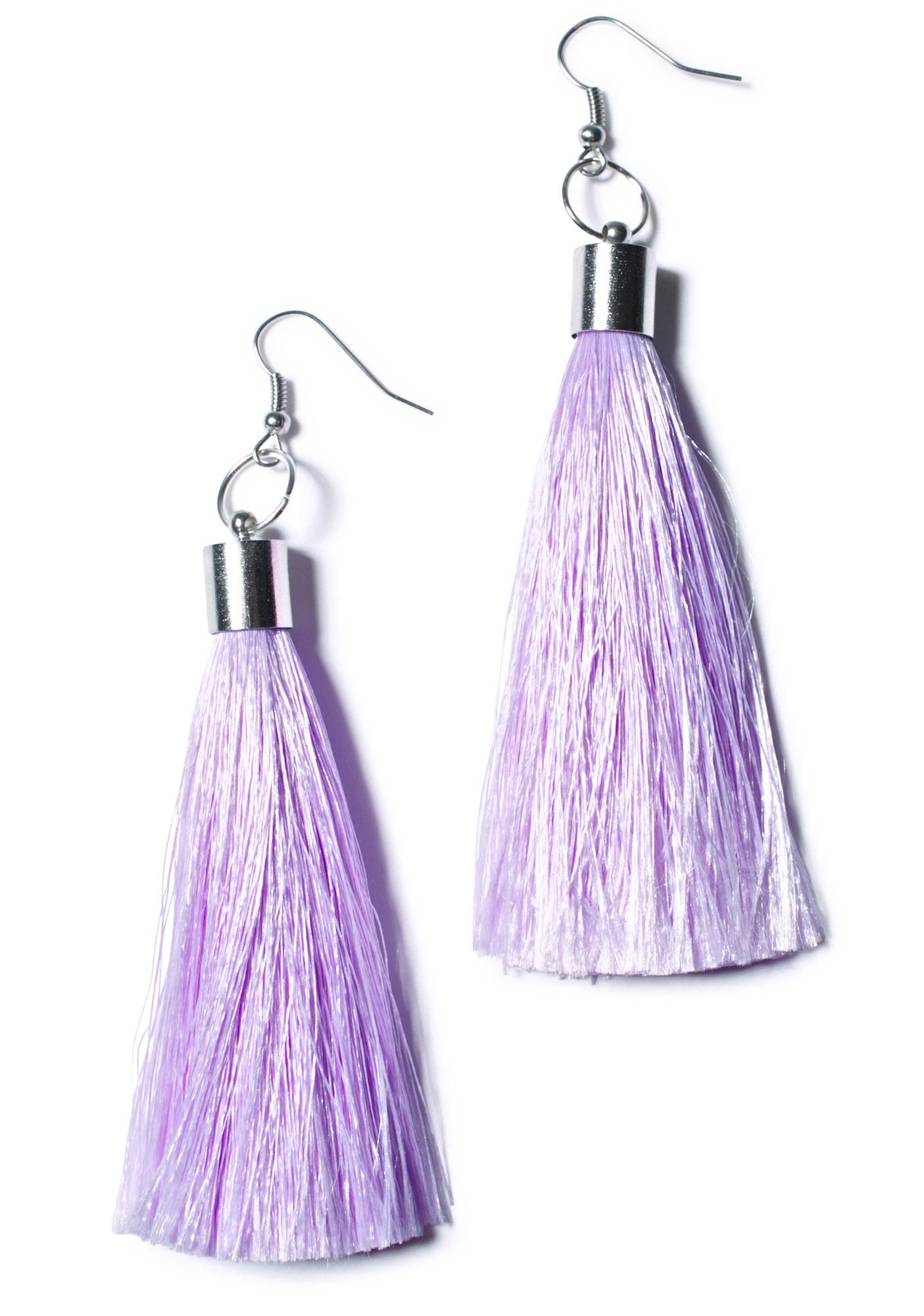 Suzywan Deluxe Tila Tassle Earrings