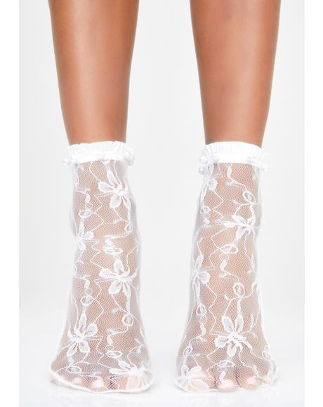 Frosty Lil Minx Lace Socks