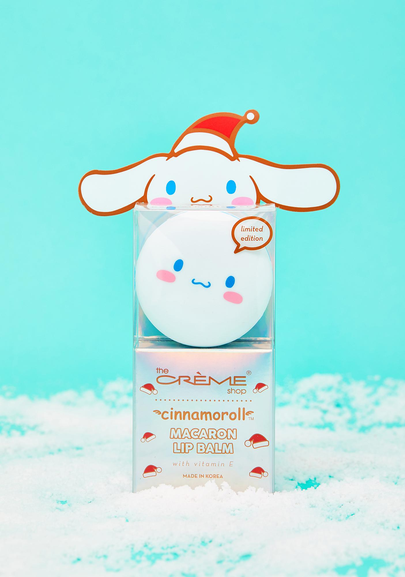 The Crème Shop Hello Kitty Cinnamoroll Macaroon Lip Balm