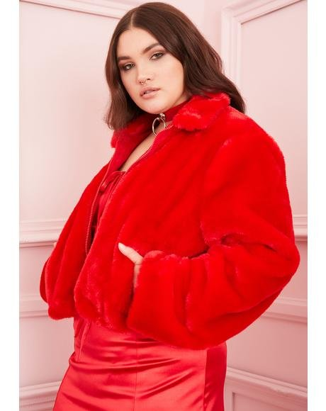 Always Cupid's Fool Faux Fur Jacket