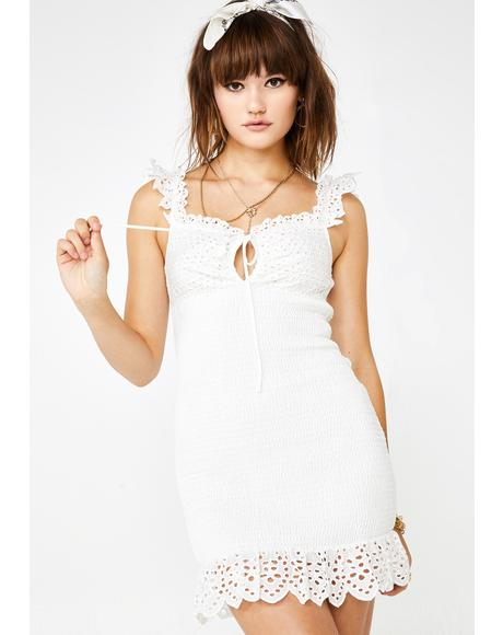 Sunshine Romance Eyelet Dress