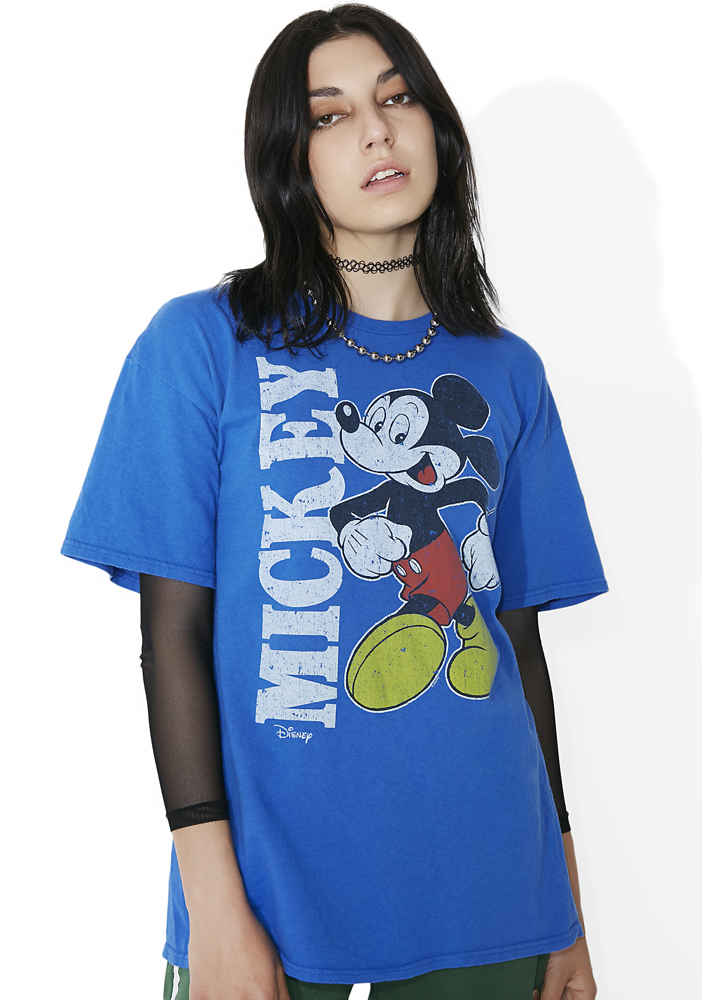 Junk Food Clothing Blue Retro Mickey Tee