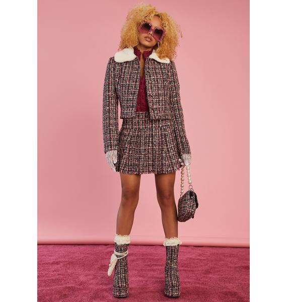 Sugar Thrillz Pish Posh Tweed Jacket