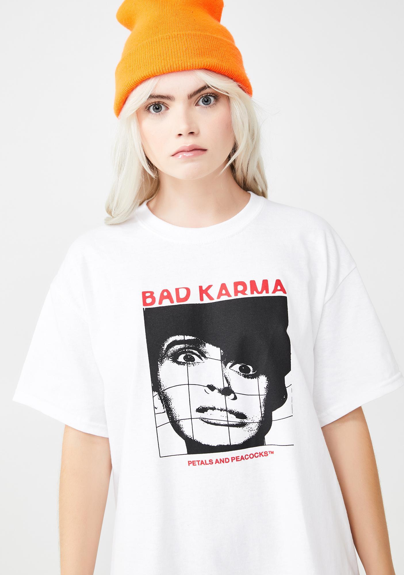Petals and Peacocks Bad Karma Graphic Tee
