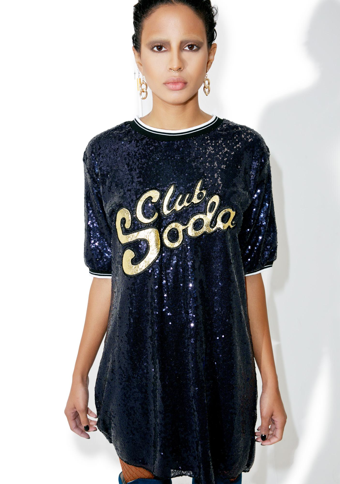 Blueberry Bubbly Sequin Tee