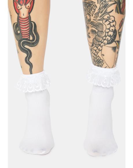 Pure Blushin' Ruffle Socks