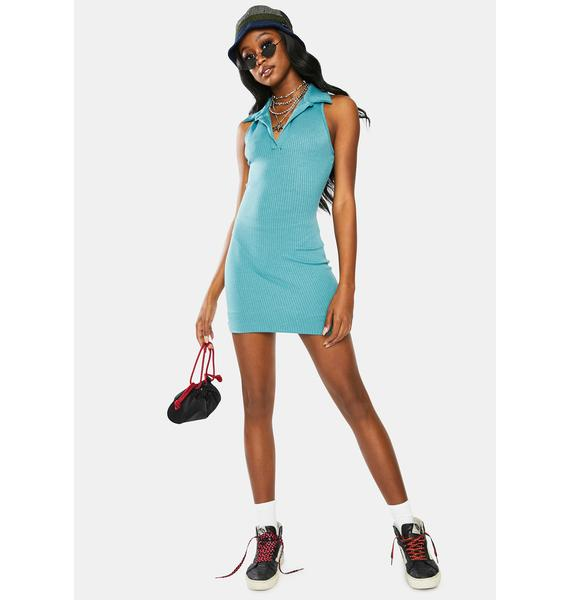 On The Town Knit Tank Dress