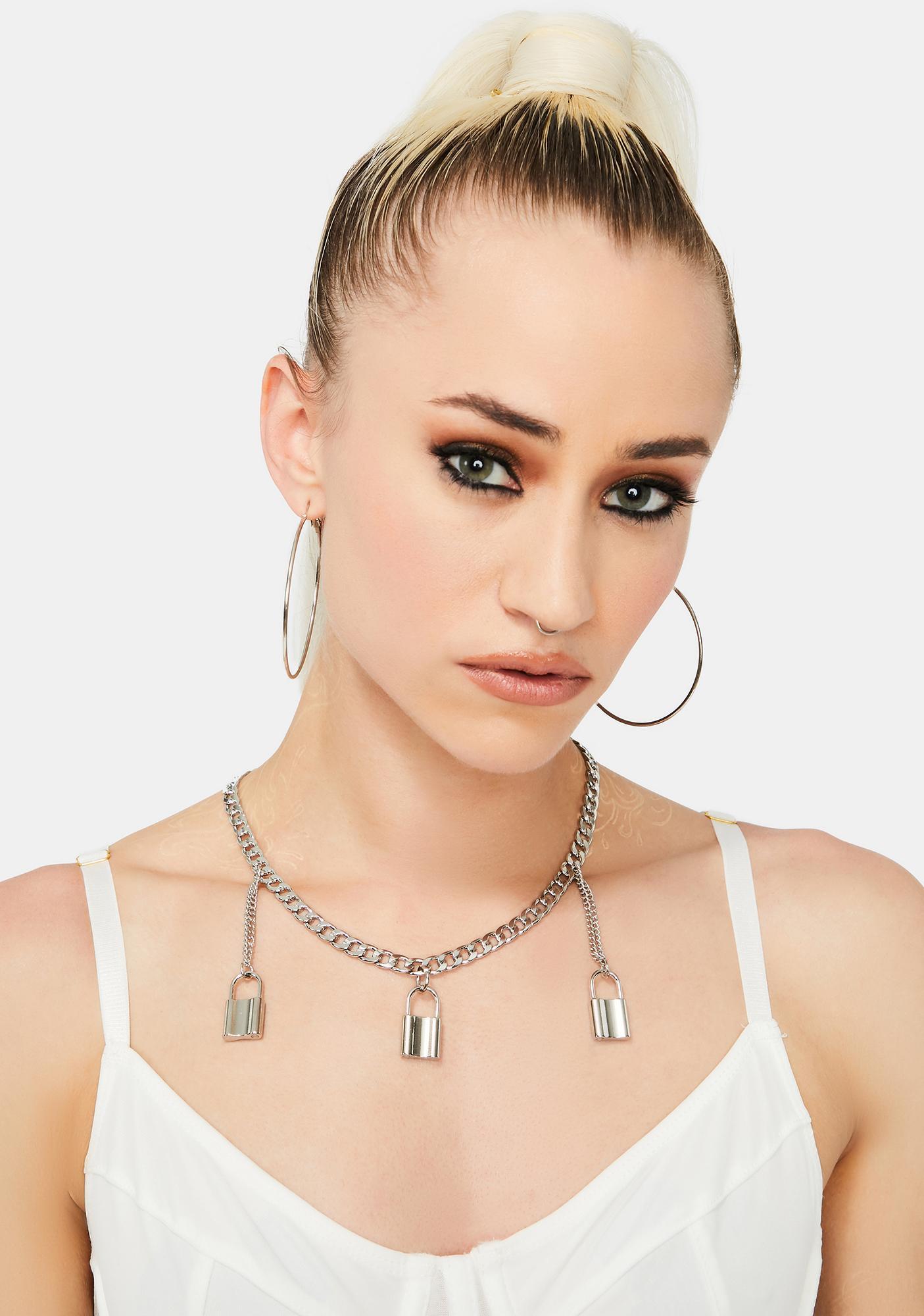 Love Lockdown Chain Necklace