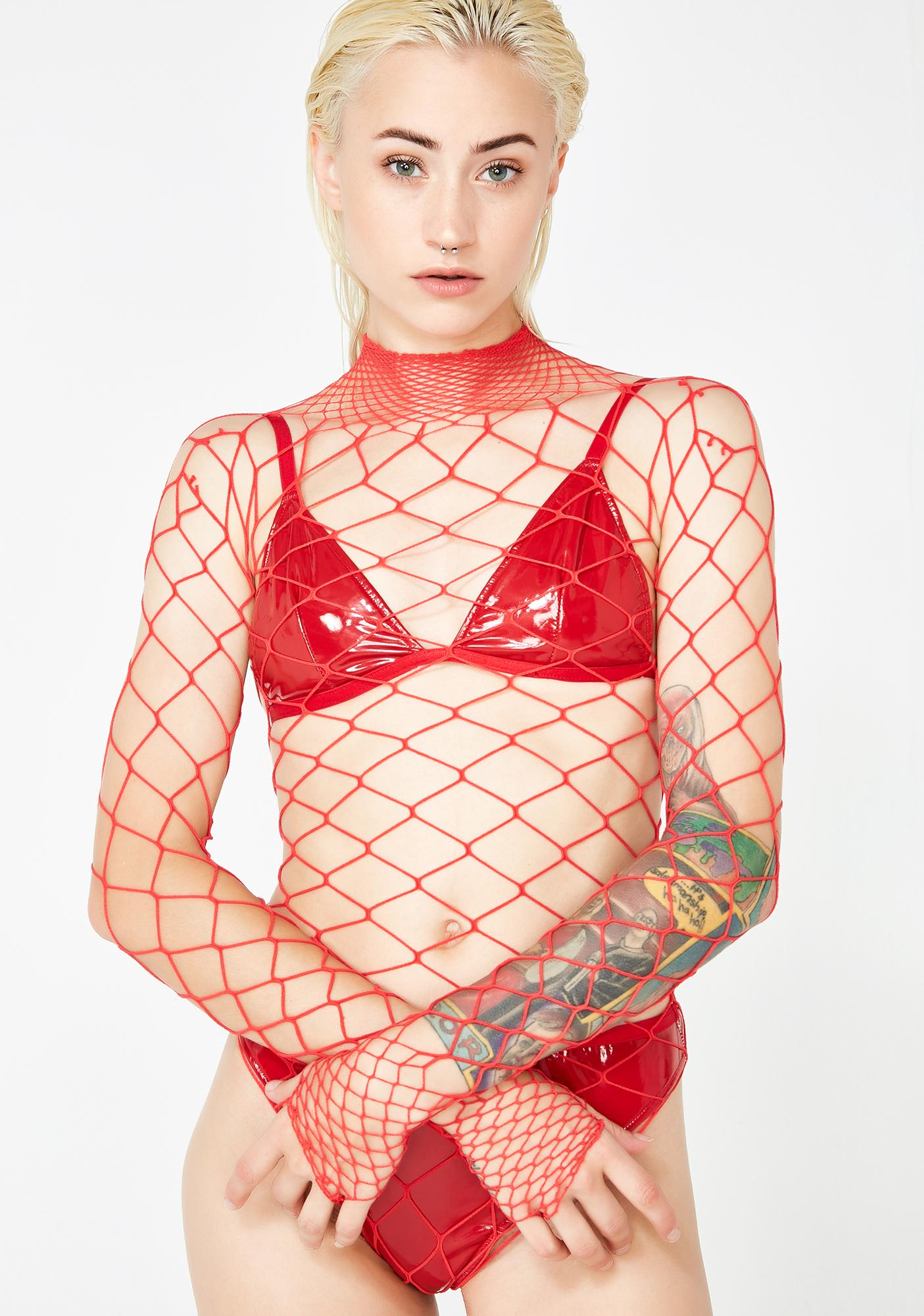Love The Damned Fishnet Bodysuit