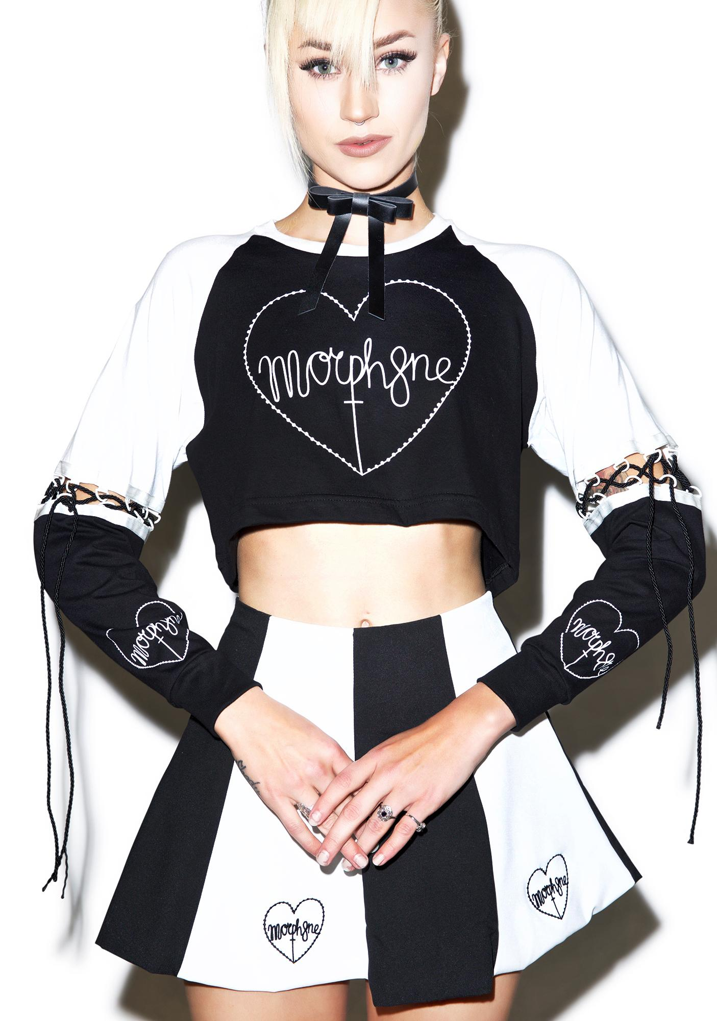 Morph8ne Hypnosis Long Sleeve Crop Top