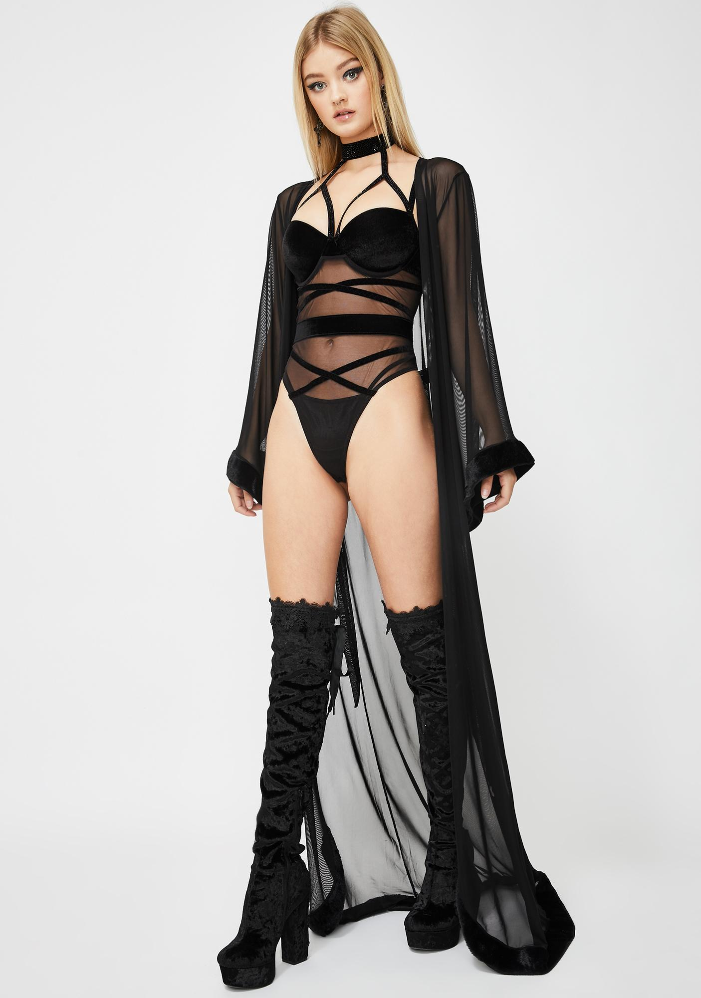 Dreaming In Lust Sheer Robe