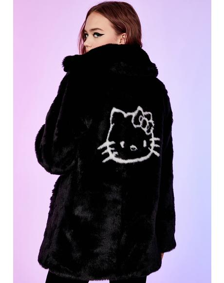 Legion Of Dishonor Faux Fur Coat