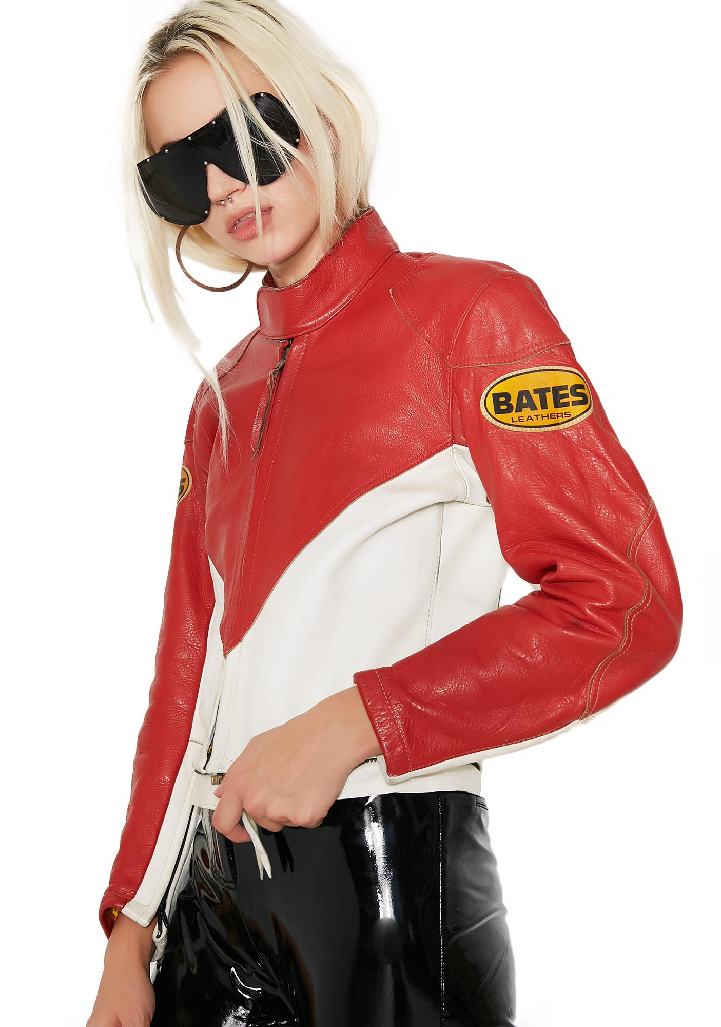 Vintage Bates Racing Leather Jacket