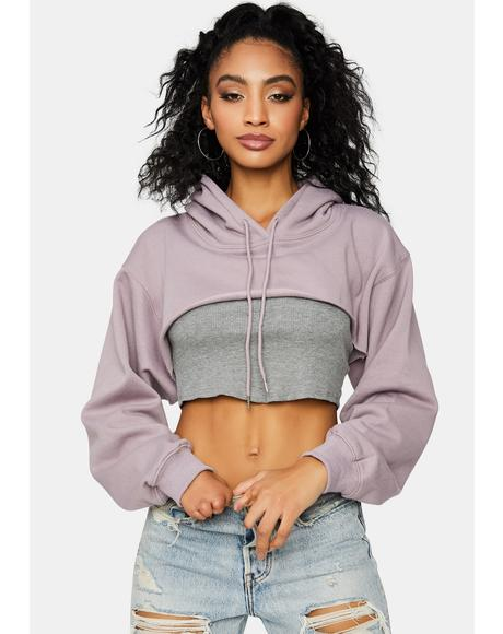 Lilac Moon Whispers Crop Top